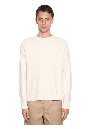 Plus Wavy Cotton Knit Sweater