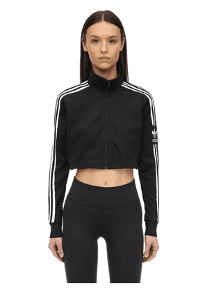 Cropped Acetate Track Top
