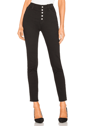 by the way. Pierce Button Front Jeans in Black. Size XS.