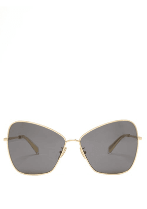 Celine Eyewear - Oversized Butterfly Metal Sunglasses - Womens - Gold