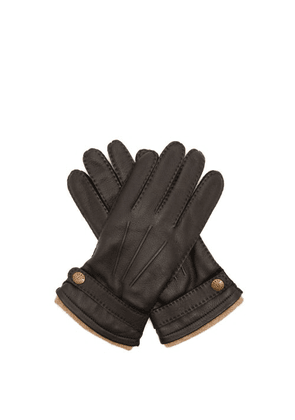 Dents - Gloucester Cashmere-lined Deerskin-leather Gloves - Mens - Black