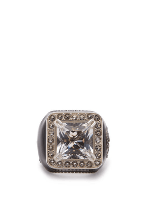 Gucci - Crystal-embellished Signet Ring - Womens - Crystal