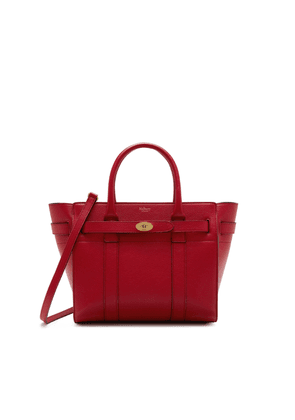 Mulberry Small Zipped Bayswater in Scarlet Small Classic Grain