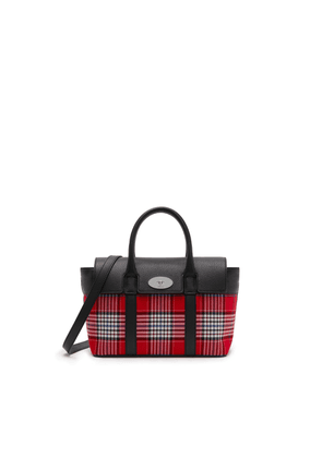 Mulberry Small Bayswater in Scarlet Large Tartan Check