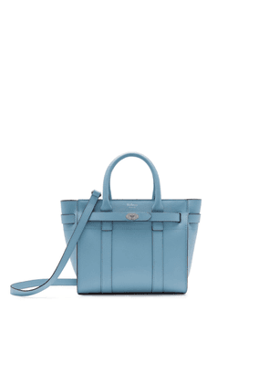 Mulberry Mini Zipped Bayswater in Pale Slate Small Printed Grain