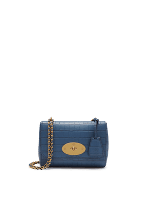 Mulberry Lily in Pale Navy Matte Croc