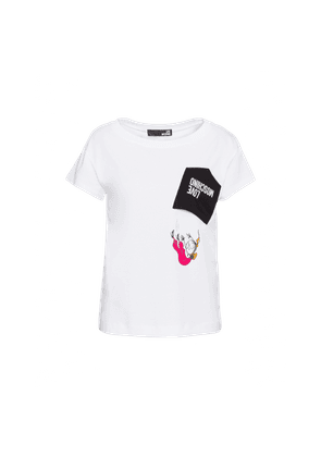 Stretch Jersey T-shirt With Aviator Doll