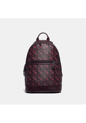 Coach Barrow Backpack With Horse And Carriage Print