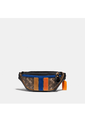 Coach Rivington Belt Bag 7 With Horse And Carriage Print And Varsity Stripe