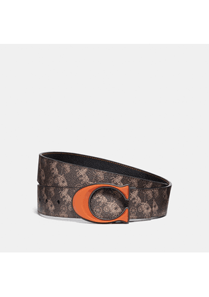 Coach Signature Buckle Reversible Belt With Horse And Carriage Print, 38mm