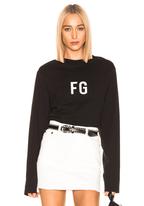 Fear of God Long Sleeve 'FG' Tee in Vintage Black - Black. Size XL (also in ).