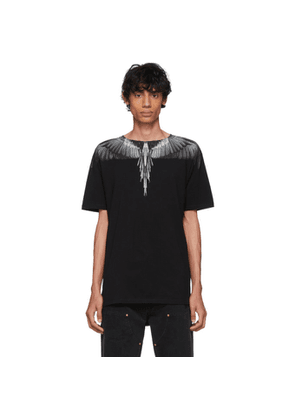 Marcelo Burlon County of Milan Black and Grey Wings T-Shirt