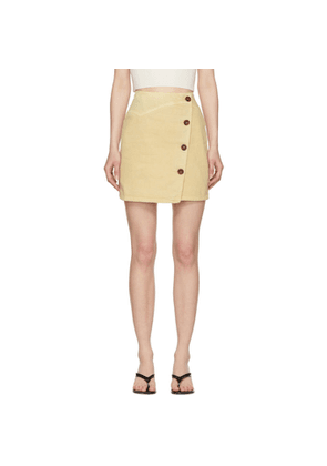 Nanushka Beige Denim Amita Skirt