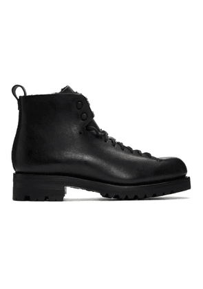 Feit Black Shearling Hiker Boots