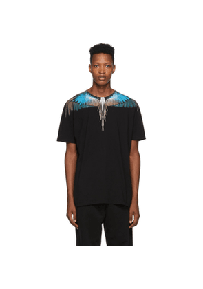Marcelo Burlon County of Milan Black Turquoise Wings T-Shirt