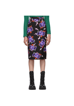 Prada Black Universal Studios Edition Hands Pencil Skirt
