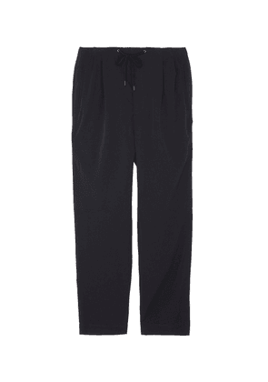 Pleated twill jogging pants