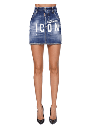 Dalma Icon High Waist Denim Mini Skirt