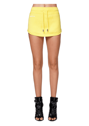 Logo Print Jersey Mini Skirt