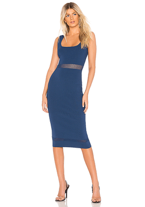 About Us Kennedy Knit Midi Dress in Navy. Size S.