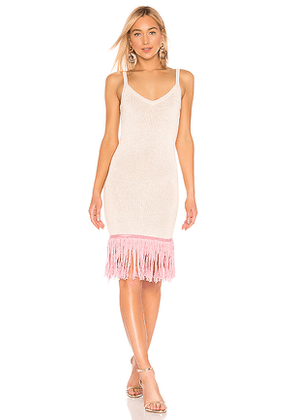 House of Harlow 1960 X REVOLVE Fig Dress in Neutral. Size XS.