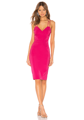 by the way. Mandi Crossback Midi Dress in Pink. Size XS.