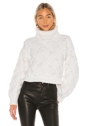 Lovers + Friends Lilah Turtleneck in Ivory. Size S.