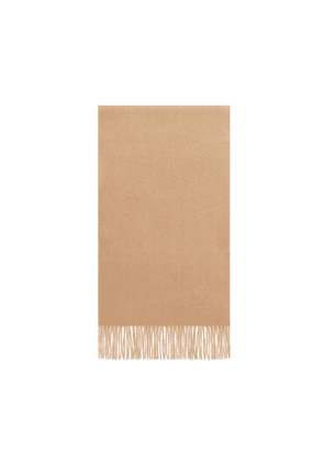 Mulberry Small Solid Lambswool Scarf in Camel Lambswool