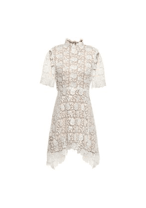 Catherine Deane Jeanne Fluted Guipure Lace Mini Dress Woman White Size 6