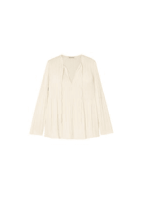 Elizabeth And James Crochet-trimmed Crepe Top Woman Ivory Size XS