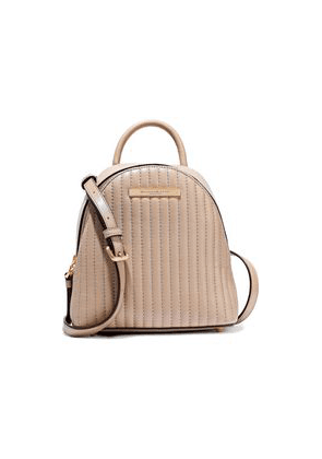 Donna Karan Mini Convertible Quilted Leather Backpack Woman Sand Size --