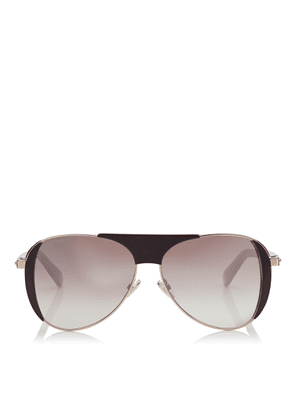 RAVE Burgundy and Copper Gold Aviators with Crystal Embedded Spoilers