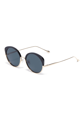 'Cocoon' Metal Frame Cateye Sunglasses