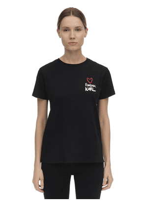 Forever Karl Cotton Jersey T-shirt