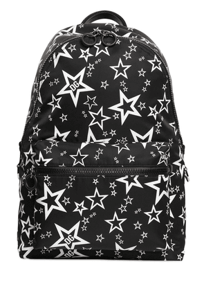 Star Print Nylon Backpack