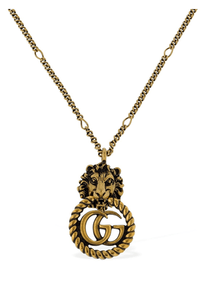 Small Lion Vintage Gg Running Necklace