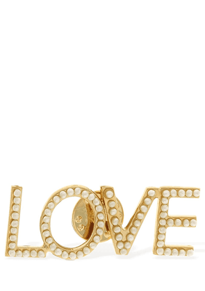 Love Faux Pearls Pin