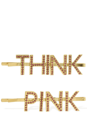 Think Pink Double Hair Clips
