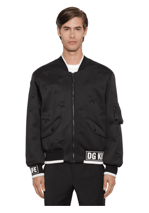 Dg King Dg Life Neoprene Bomber Jacket