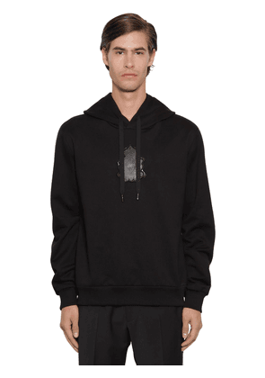 Cotton Terry Hoodie W/ Rubber Logo