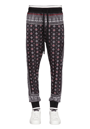 Bandana Print Triacetate Track Pants