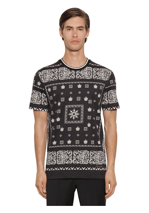 Bandana Print Cotton T-shirt