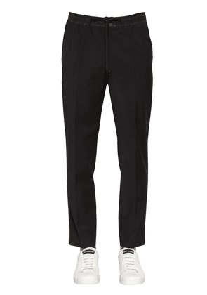Stretch Wool Blend Pants
