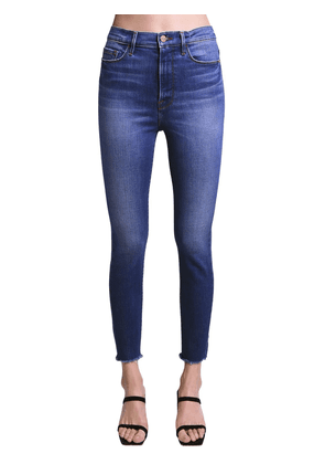Ali High Rise Skinny Cotton Jeans