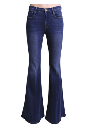Le High Super Flared Cotton Denim Jeans
