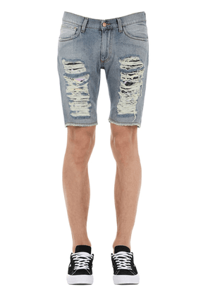 All Over Ripped Short Denim Pants
