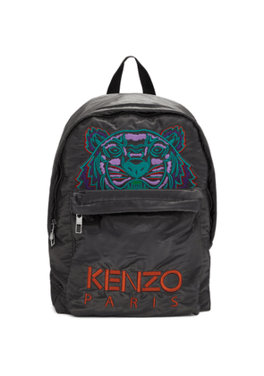 Kenzo Grey Limited Edition Holiday Large Kampus Tiger Backpack