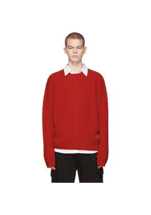 Gucci Red GG Crewneck Sweater