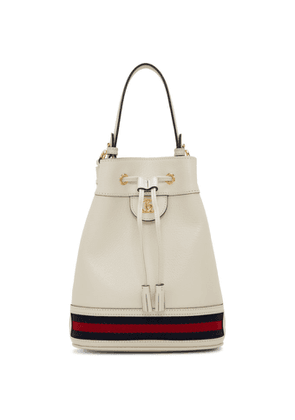 Gucci White Ophidia Bucket Bag