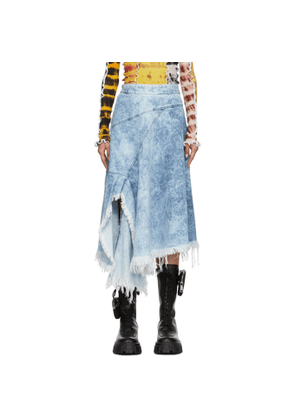 Marques Almeida Blue Denim Asymmetric Wrap Skirt